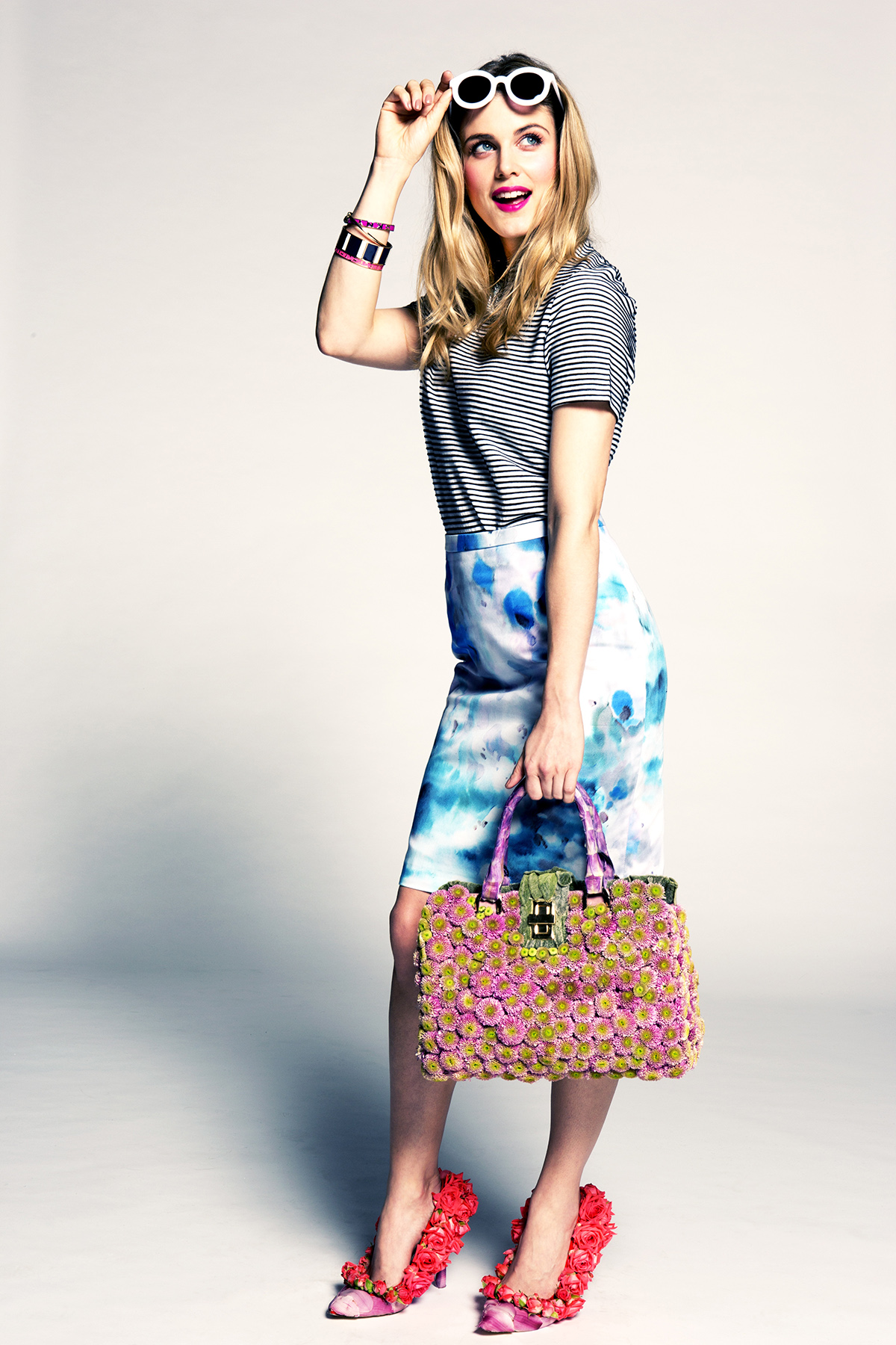 The Spring Summer accessories camaign at McArthurGlen Designer Outlets UK -2nd 20th April, featuring Ashley James