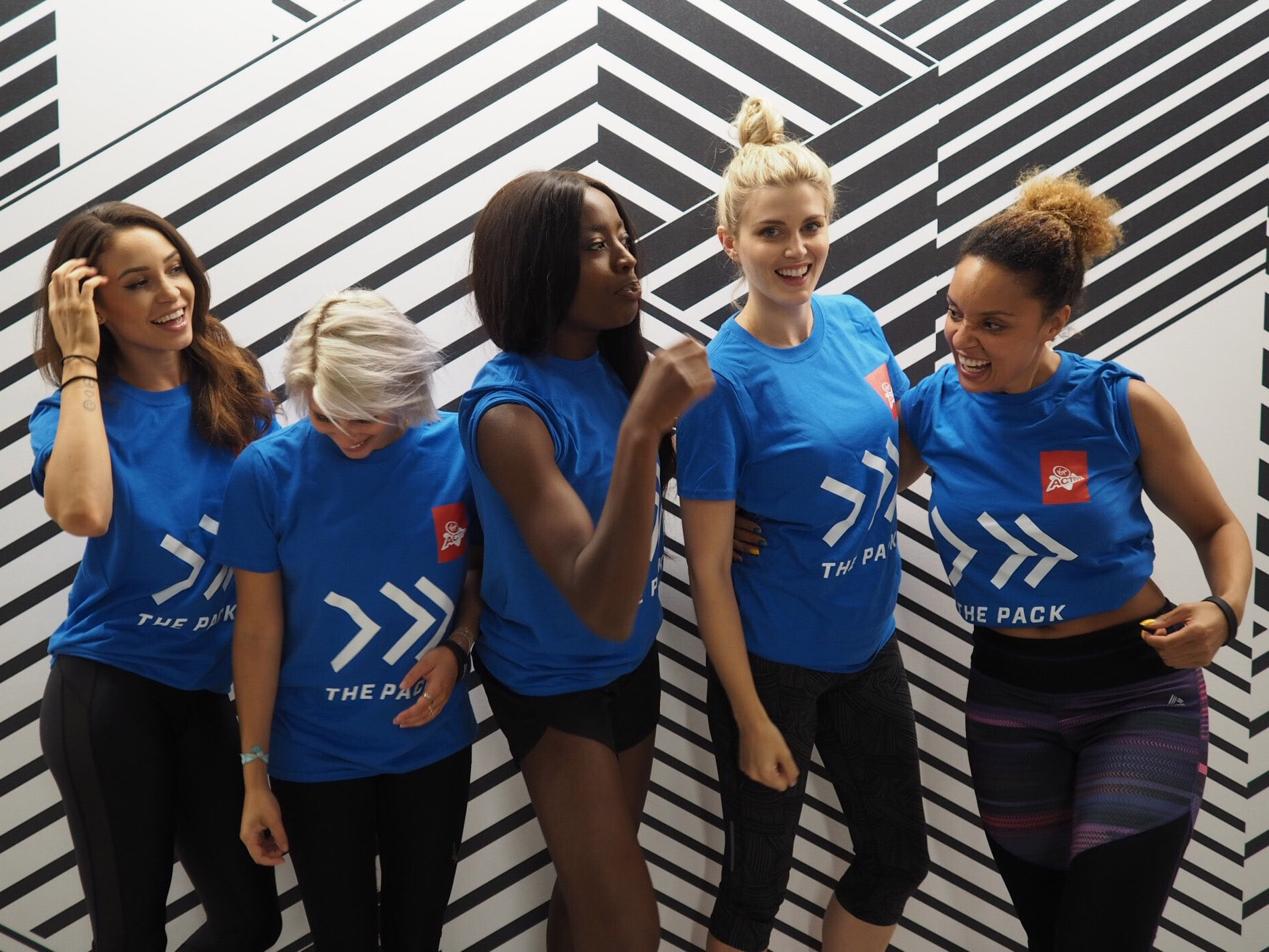 Danielle Peazer, Pips Taylor, Aj Odudu, Ashley James, Pandora Christie fitness with friends