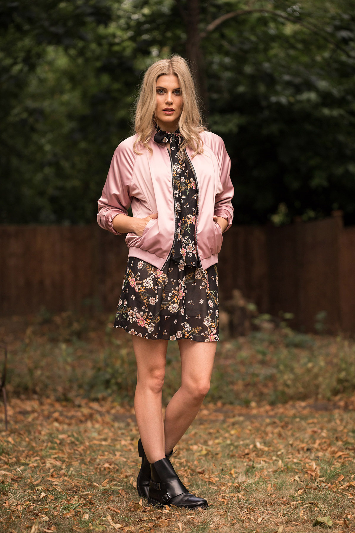 satin bomber jacket outfit