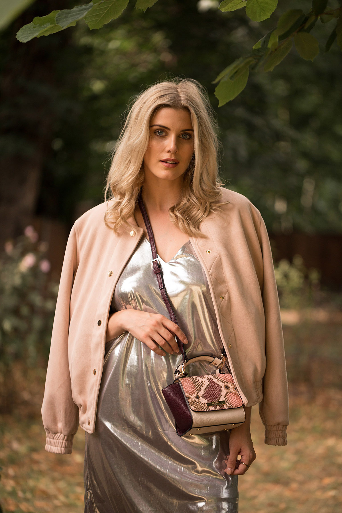 Ashley James how to wear metallics