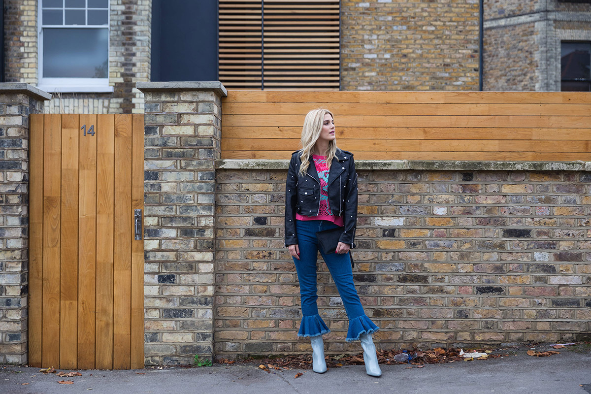 Ashley James flared jeans