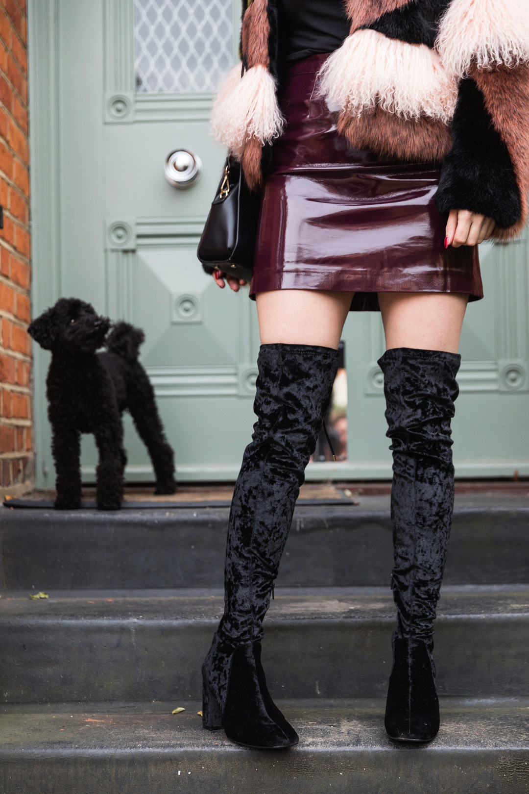 Ashley James How to wear Faux Fur knee high boots