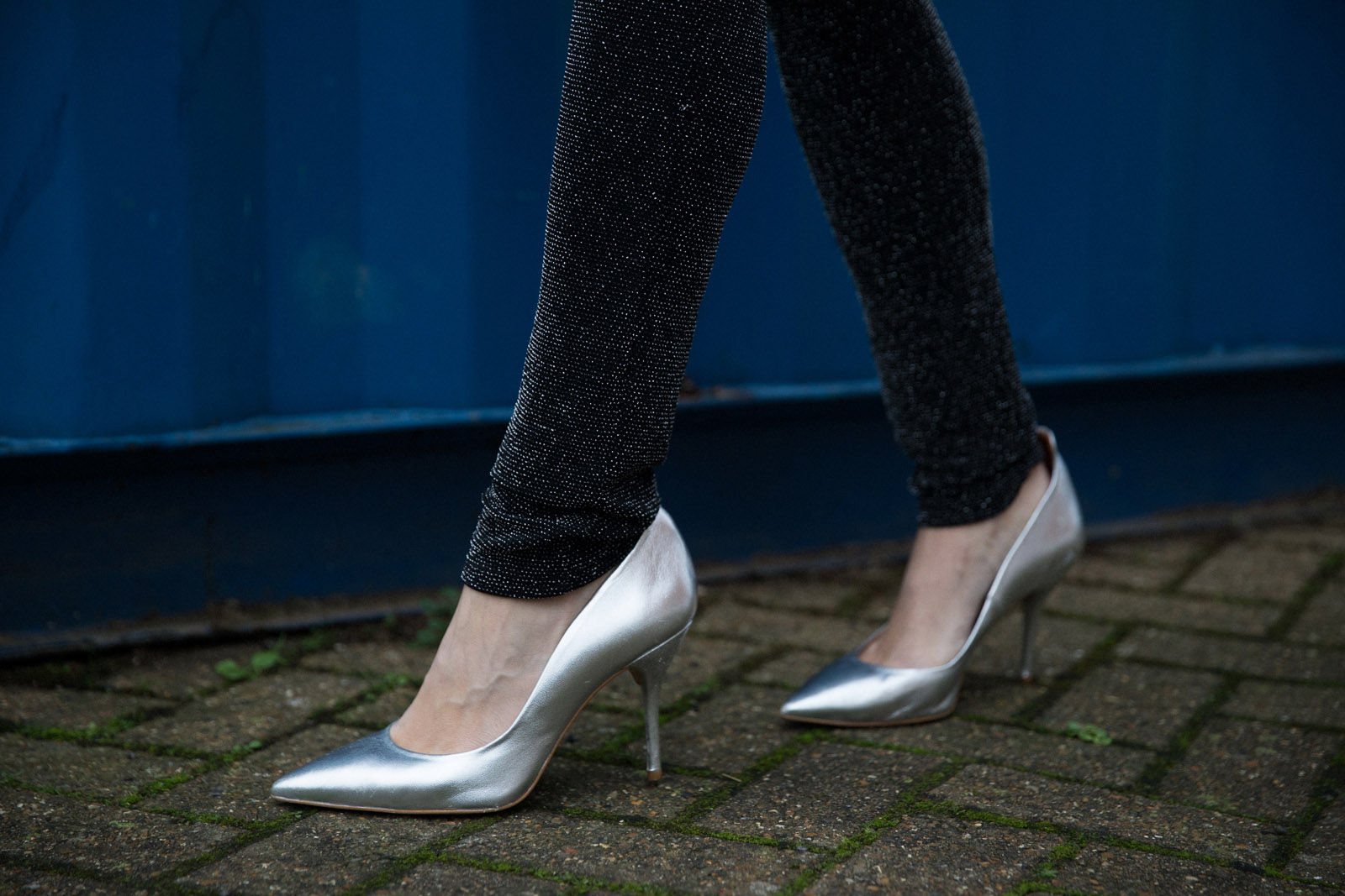 Silver heels Ashley James New Years Eve Outfit Ideas