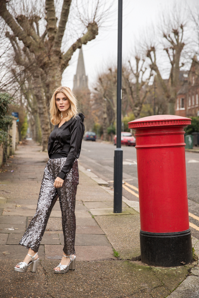 Sequin Trousers Ashley James New Years Eve Outfit Ideas