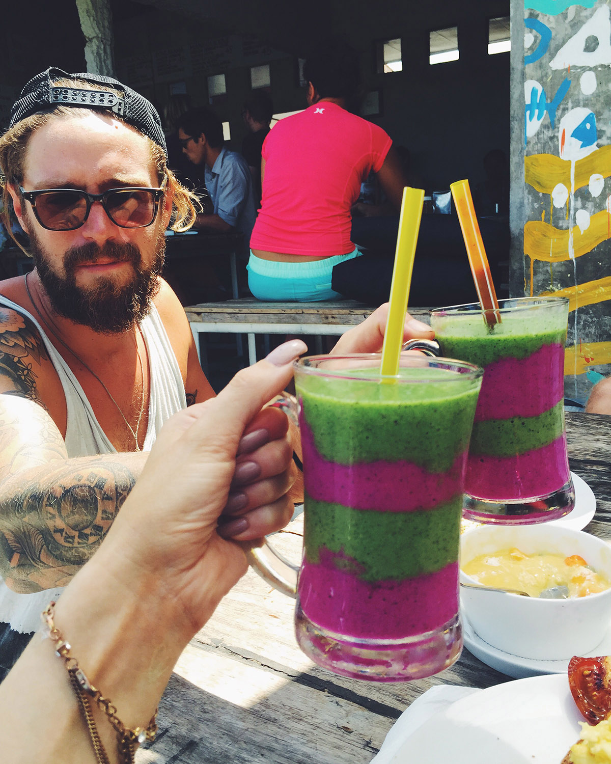 Crate Cafe awesome smoothie bali