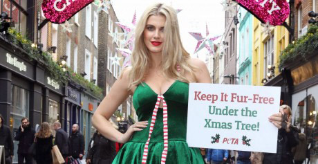 My new PETA campaign urges shoppers to go fur-free this Christmas
