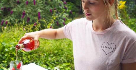 A sensational strawberry summer sunshine cocktail!