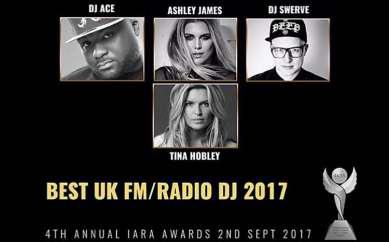 I've been shortlisted for an IARA Award for best UK FM / Radio DJ!